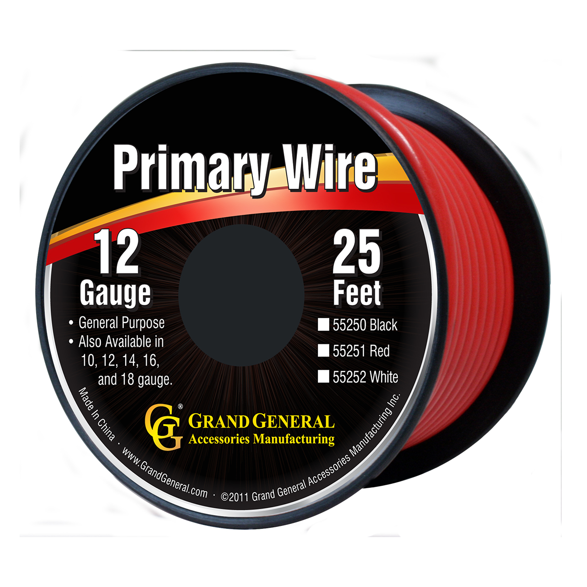 55251/55251SP Primary Wire in 12 Gauge, 25 Feet