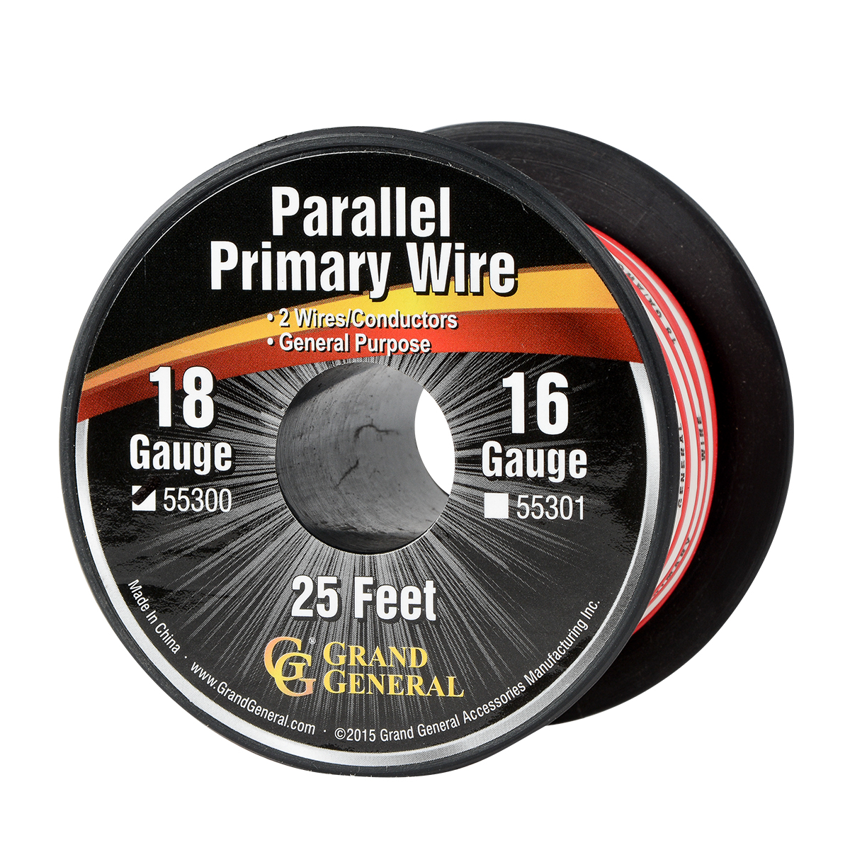 55330 Parallel Primary 2 Wire Roll in 18 GA