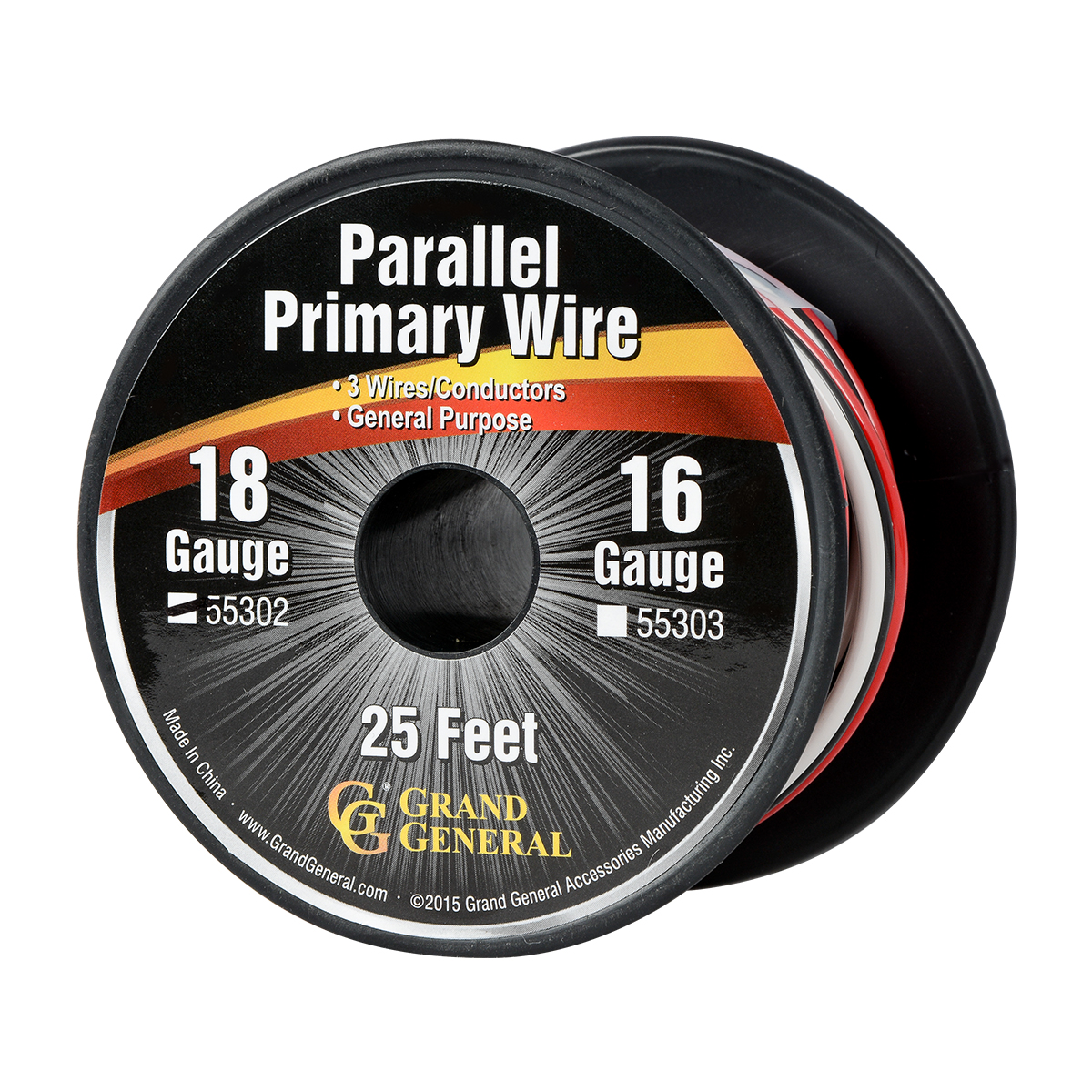 55302 Parallel Primary 3 Wire Roll in 18 GA