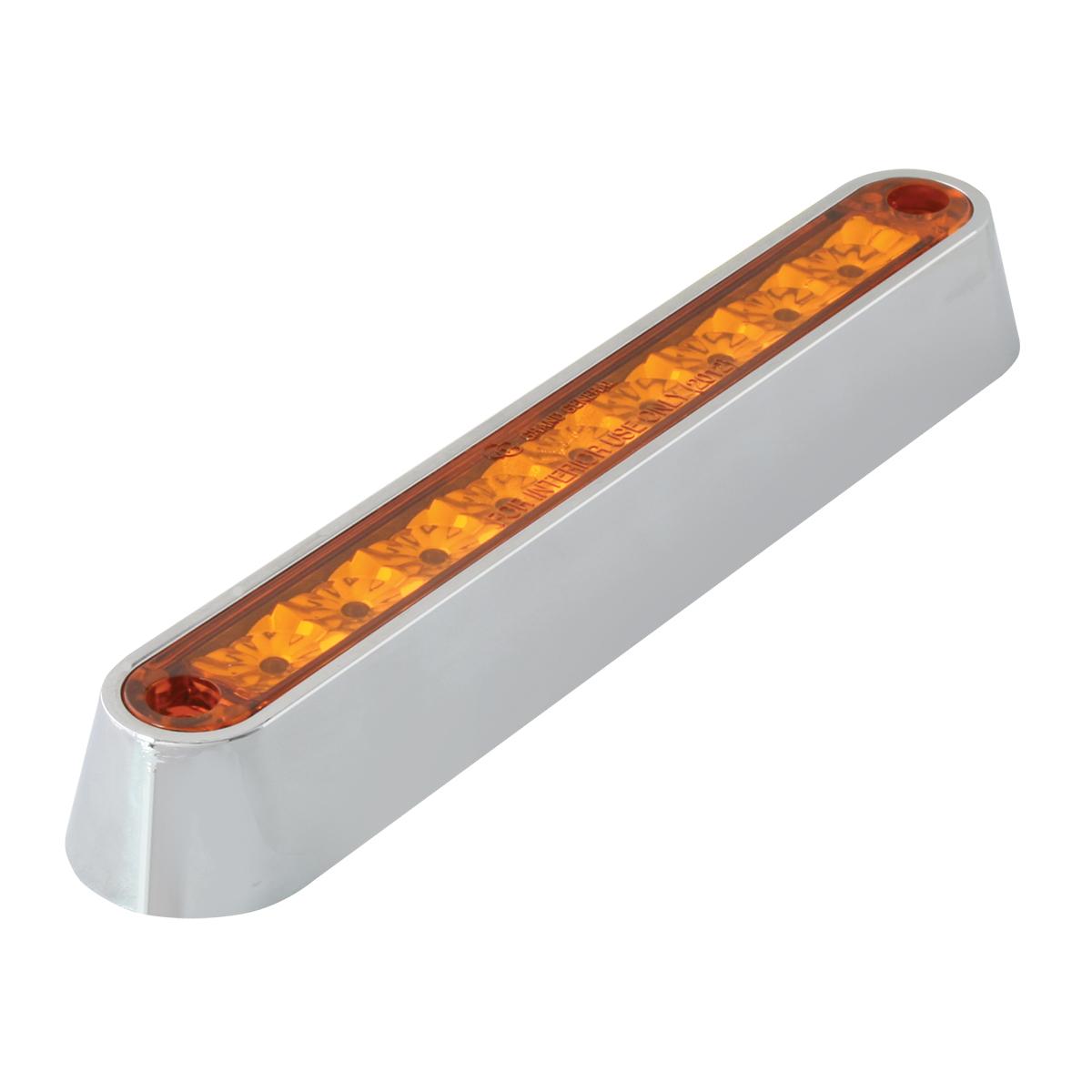 "76090 6.5"" Surface Mount LED Light Bar w/ Chrome Plastic Base"