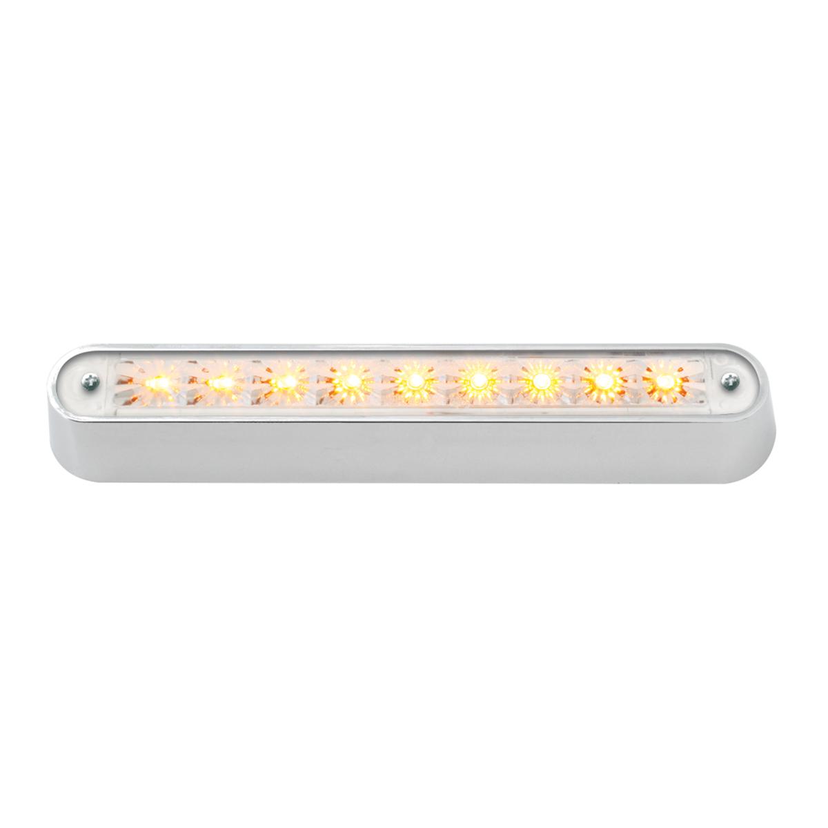 "76091 6.5"" Surface Mount LED Light Bar w/ Chrome Plastic Base"