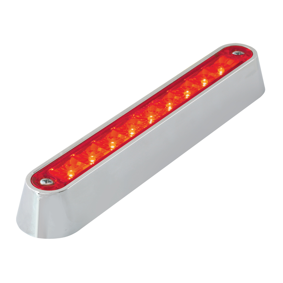 "76092 6.5"" Surface Mount LED Light Bar w/ Chrome Plastic Base"