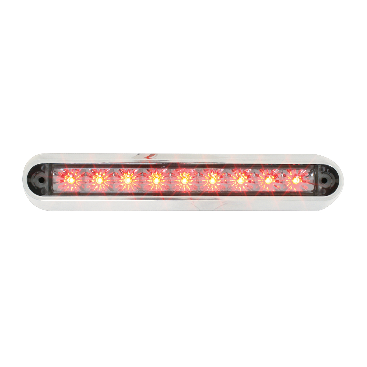 "76093 6.5"" Surface Mount LED Light Bar w/ Chrome Plastic Base"