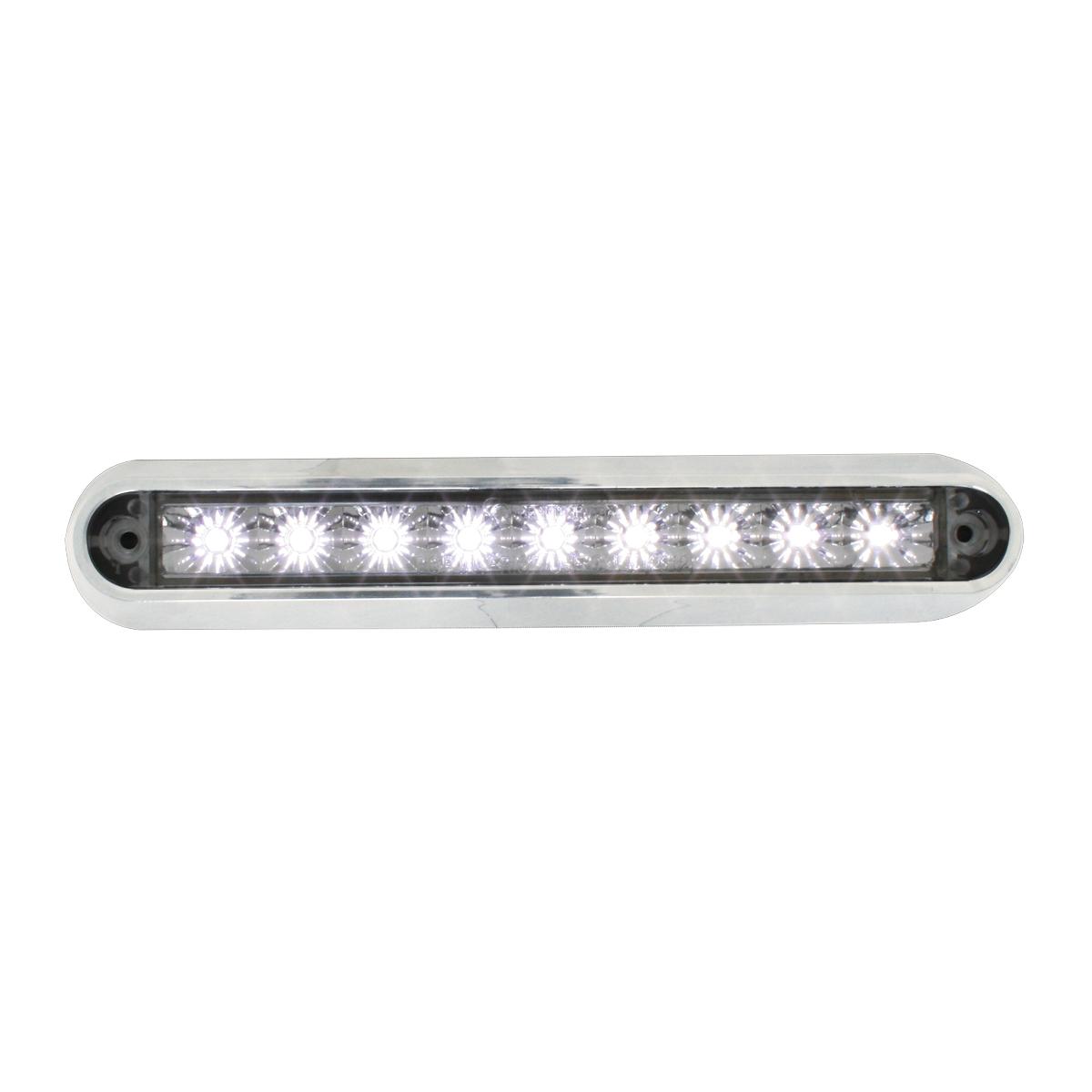 "76094 6.5"" Surface Mount LED Light Bar w/ Chrome Plastic Base"
