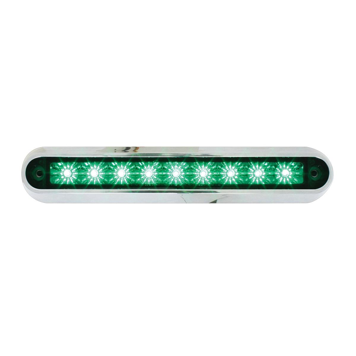 "76096 6.5"" Surface Mount LED Light Bar w/ Chrome Plastic Base"