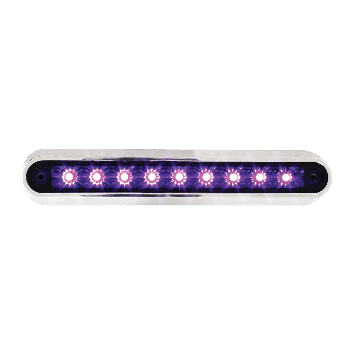 "76097 6.5"" Surface Mount LED Light Bar w/ Chrome Plastic Base"