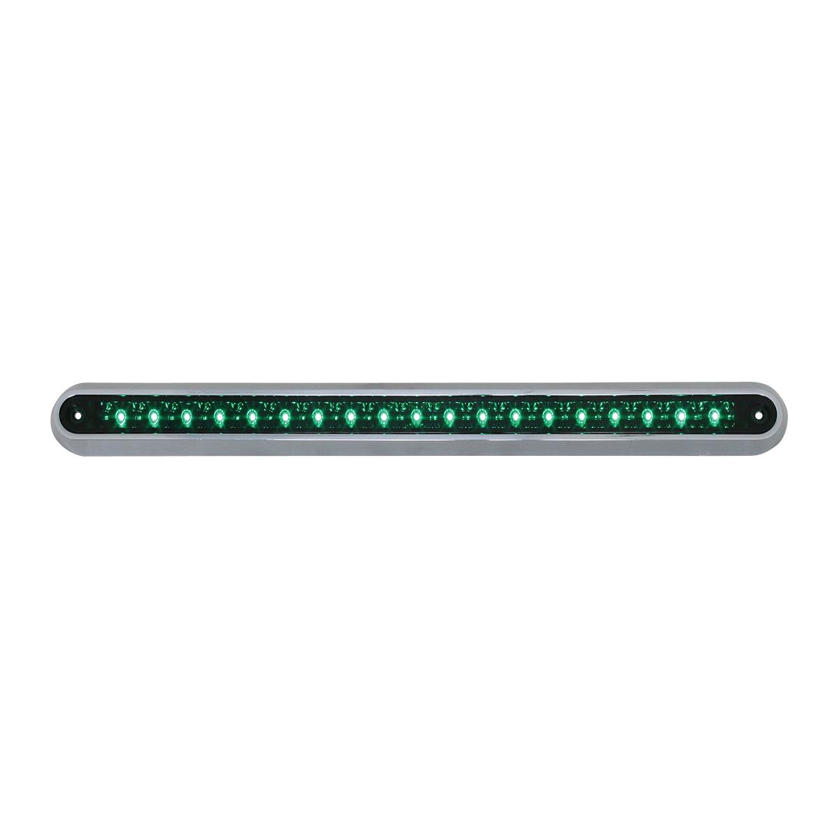 "76293 12"" Surface Mount Light Bar with Chrome Plastic Base"