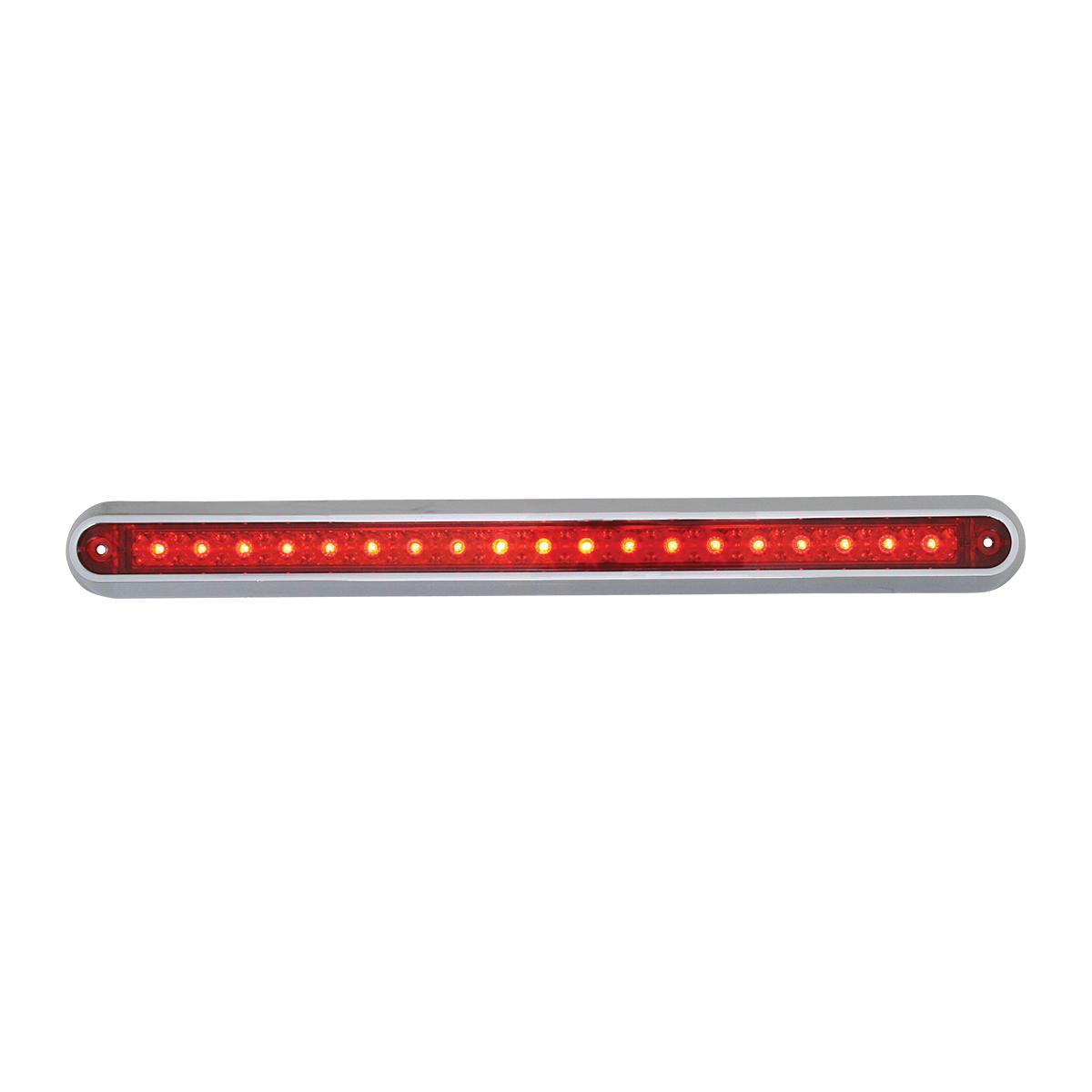 "76295 12"" Surface Mount Light Bar with Chrome Plastic Base"