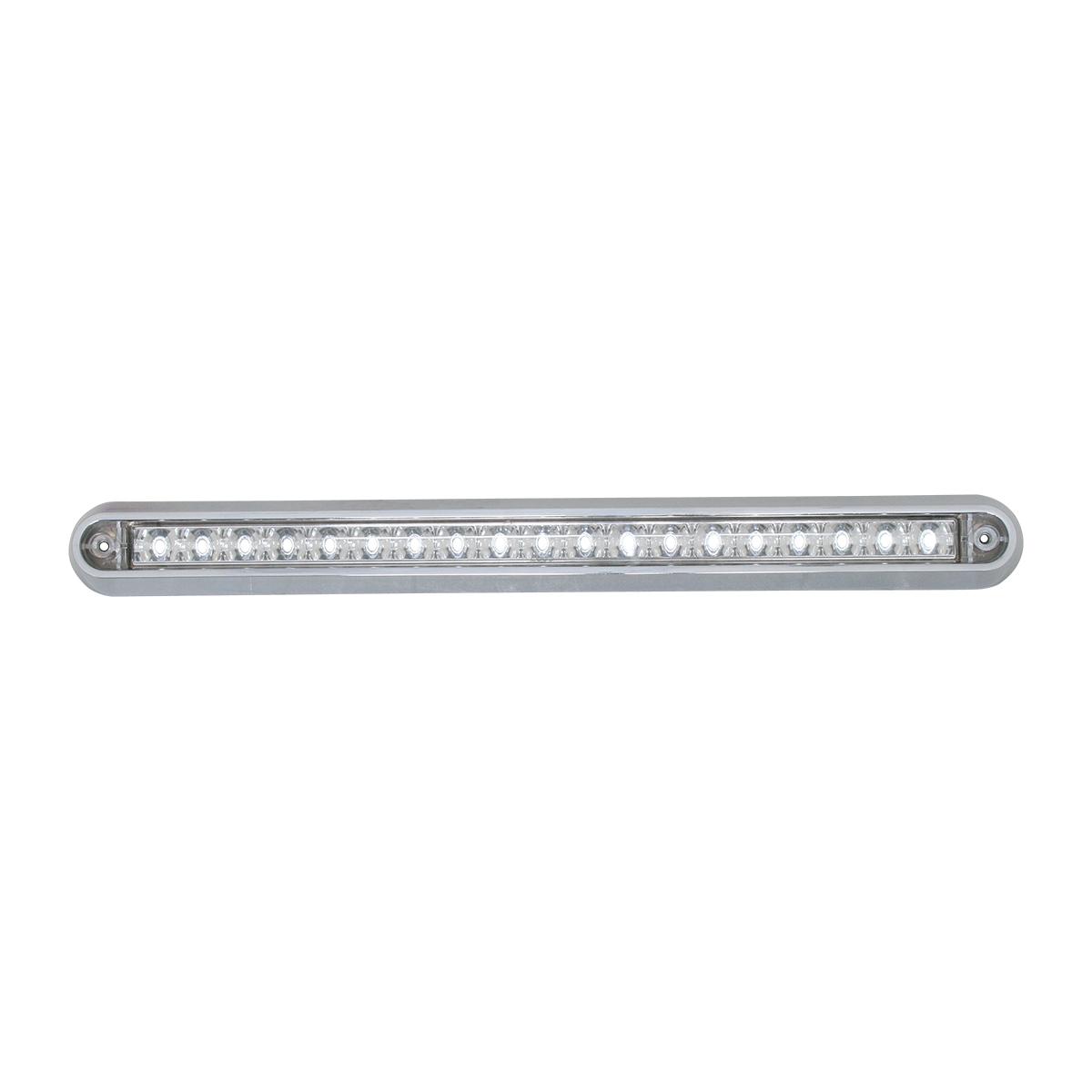 "76297 12"" Surface Mount Light Bar with Chrome Plastic Base"