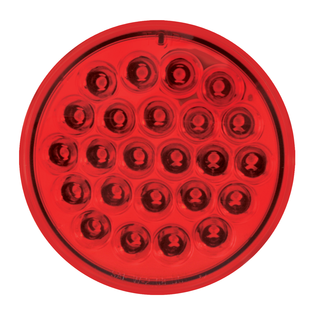 """4"""" Round Synchronous/Alternating Pearl LED Strobe Light in Red/Red"""