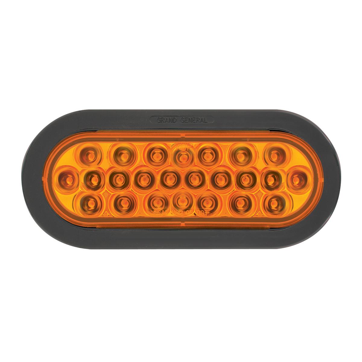 76520 Oval Pearl LED Strobe Light in Black Rubber Grommet