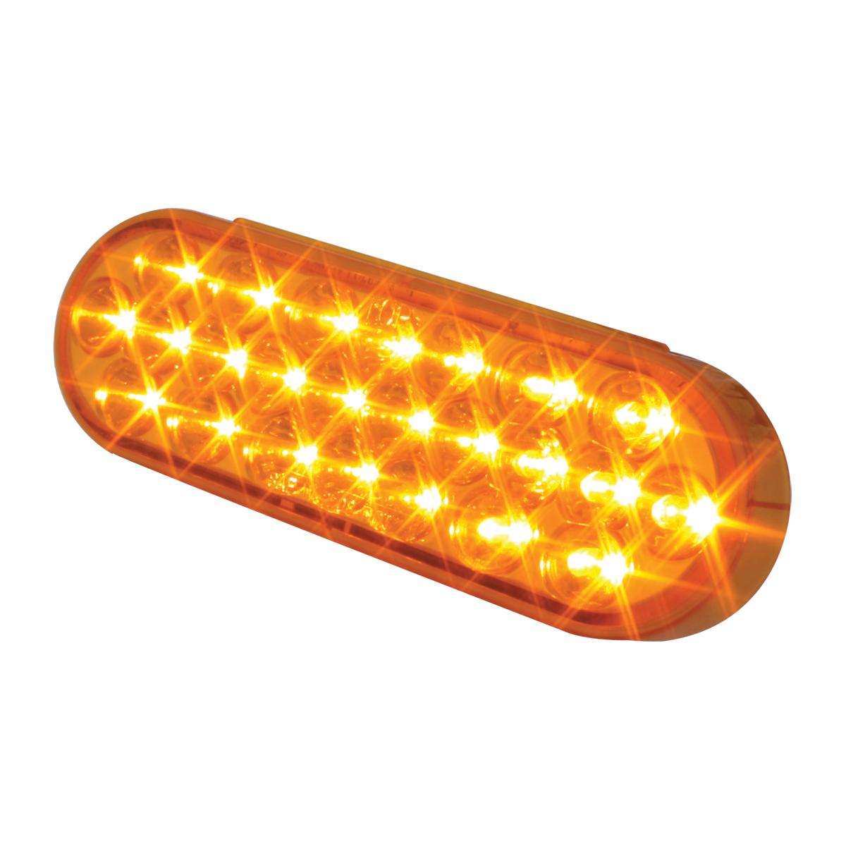 76525 Oval Pearl LED Strobe Light in Amber/Amber
