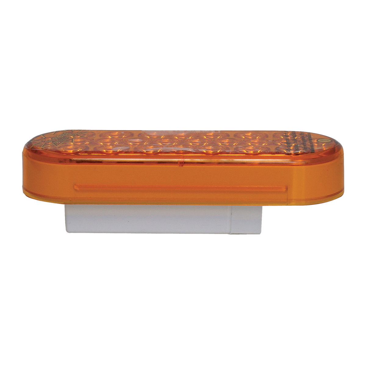 Oval Synchronous/Alternating Pearl LED Strobe Light in Amber/Amber