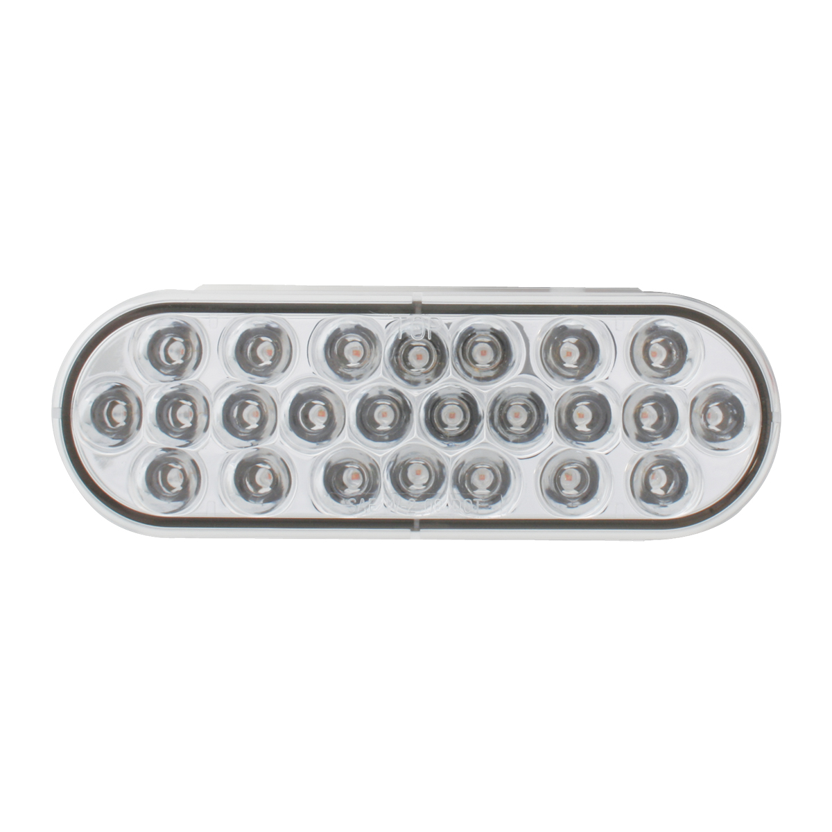 Oval Pearl LED Strobe Light in Clear Lens