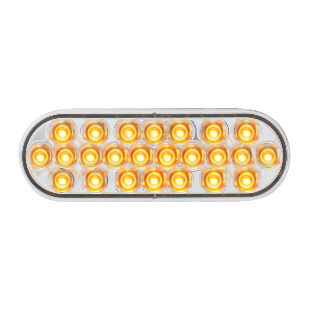 76526 Oval Pearl LED Strobe Light in Amber/Clear