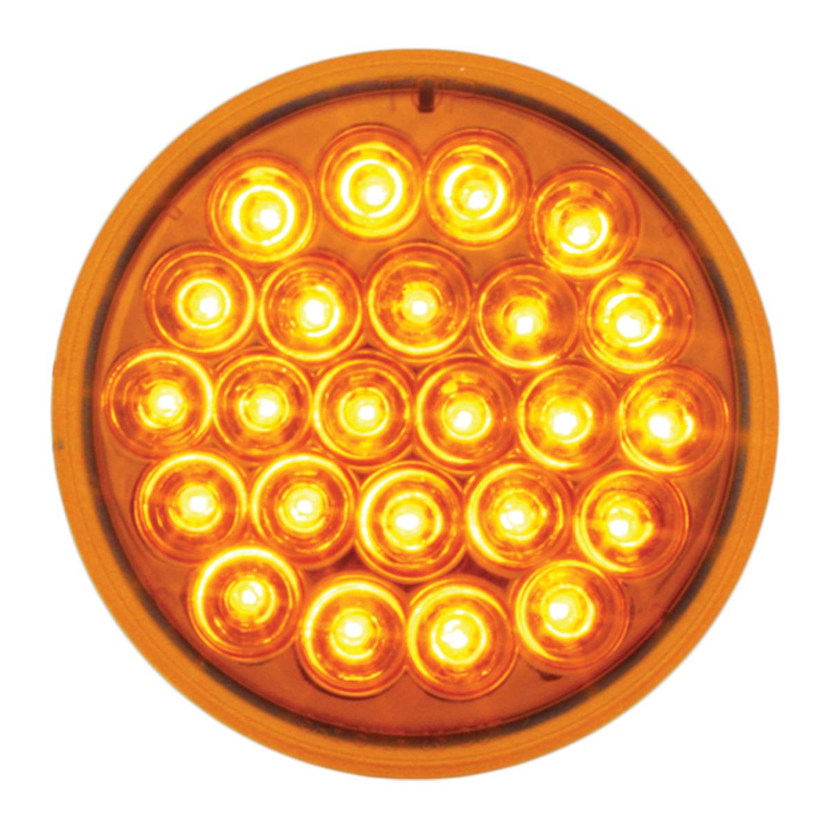 "#78270 4"" Round Pearl LED Flat Amber/Amber Light"