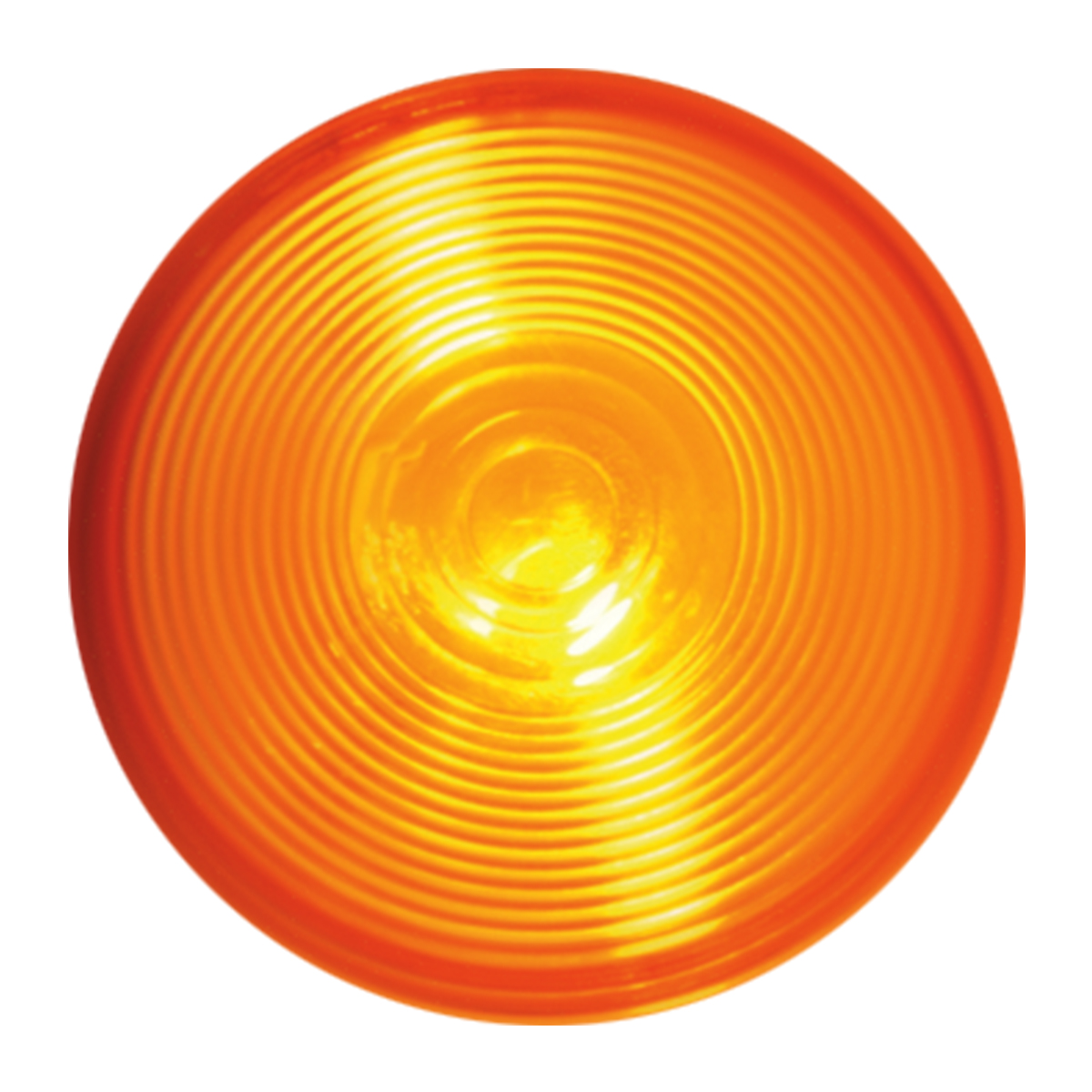 "#80476 4"" Round Incandescent Flat Amber/Amber Light"