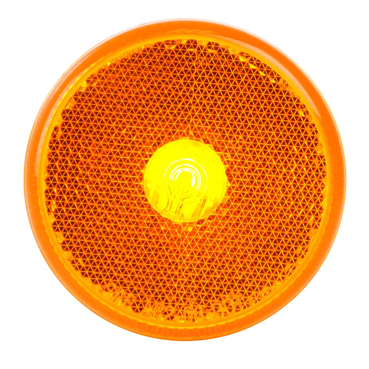 "#80713 2 ½"" Round Incandescent Flat Amber/Amber Light"