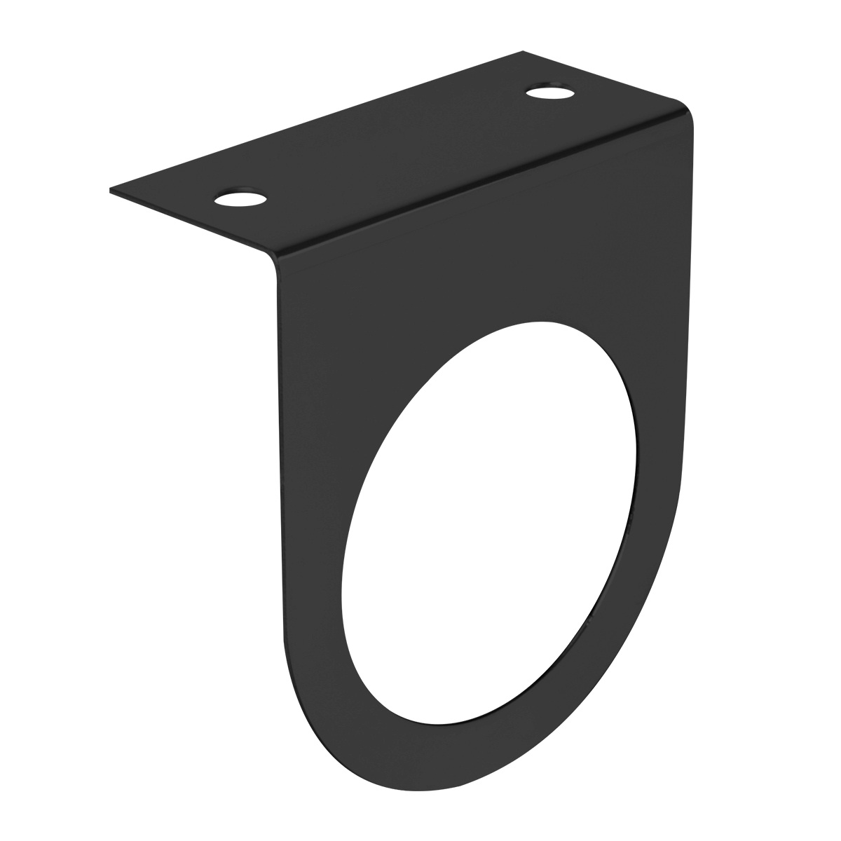 Black Steel Painted Light Bracket Only