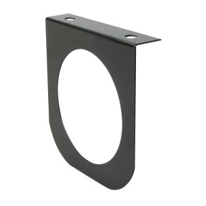 "Black Steel Single ""L"" Shape Mounting Brackets with 4″ Sealed Lights"