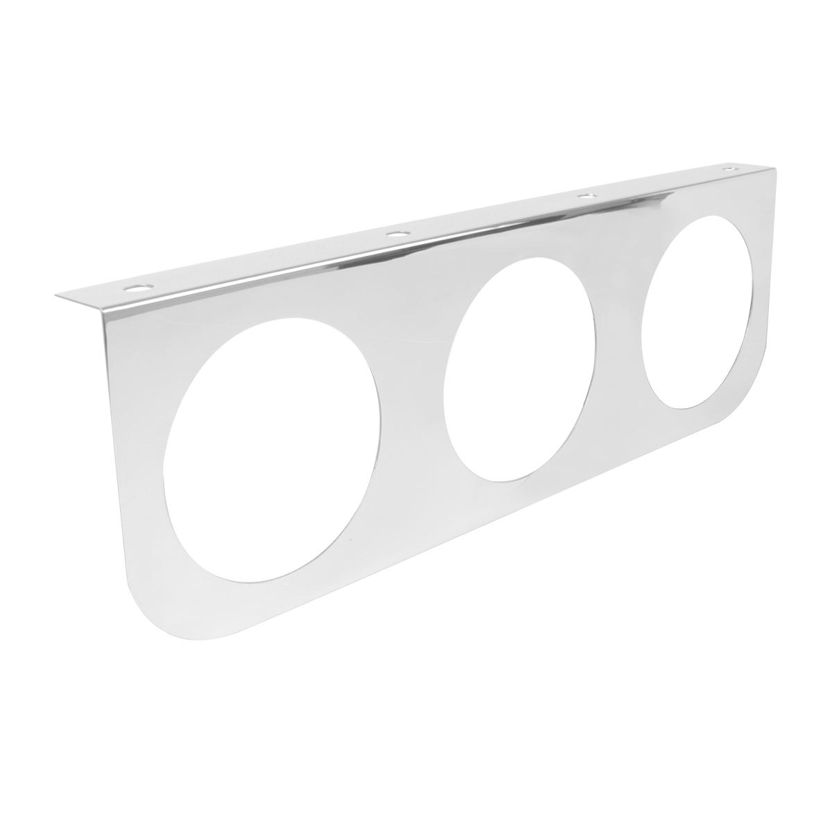 "#81503 Stainless Steel Triple Light ""L""Shape Mounting Bracket"