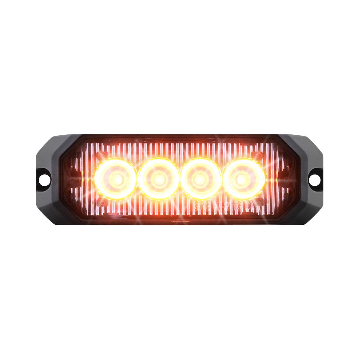 """81801 4"""" Medium Rectangular High Power LED Strobe Light"""