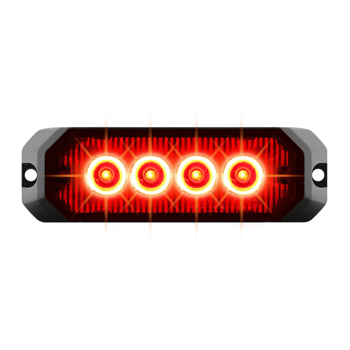 """81802 4"""" Medium Rectangular High Power LED Strobe Light"""