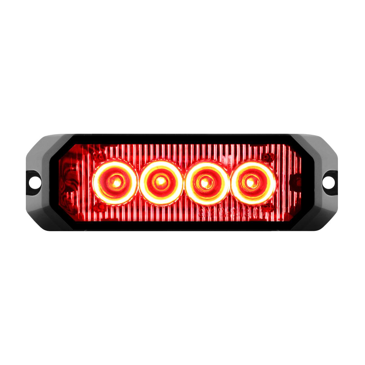 """81803 4"""" Medium Rectangular High Power LED Strobe Light"""