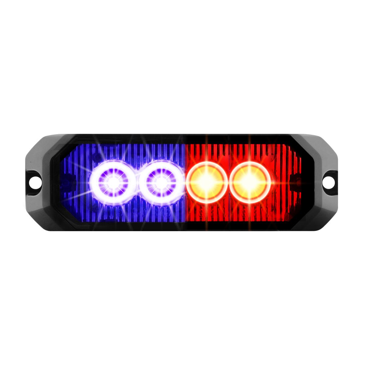 """81807 4"""" Medium Rectangular High Power LED Strobe Light"""