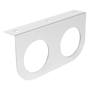 """Stainless Steel Double Light """"L"""" Shape Mounting Brackets with 2″ Sealed Lights"""