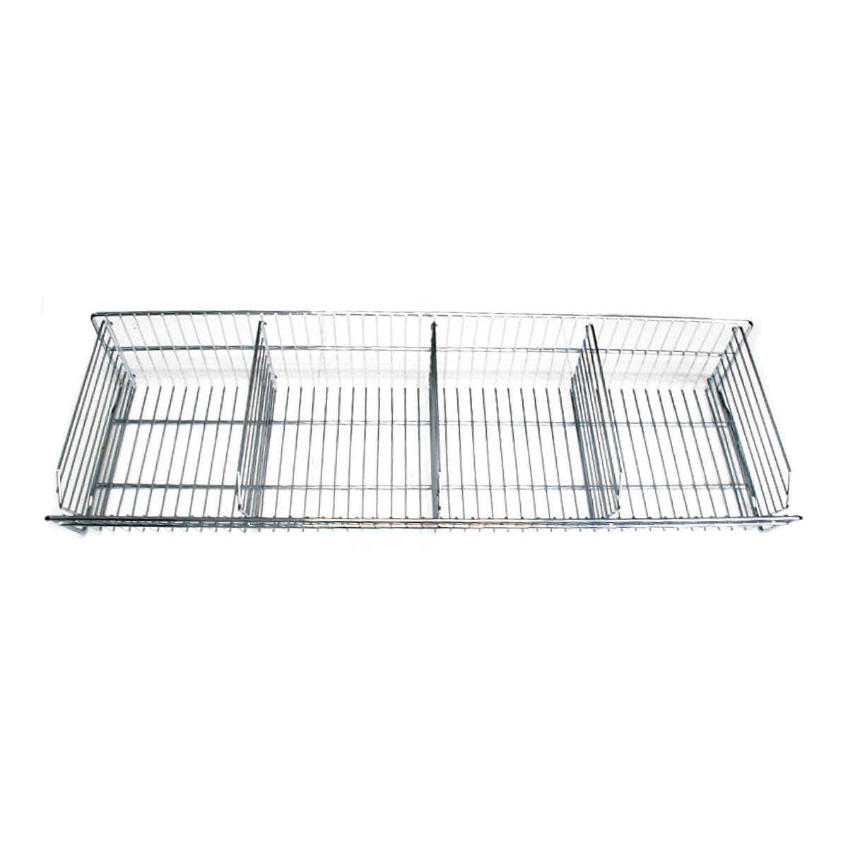 4' (W) Wire Basket with Dividers Ideal for Hub Caps and Lug Nut Covers