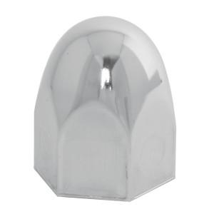 Bullet Chrome Steel Push-On Lug Nut Cover w/o Flange