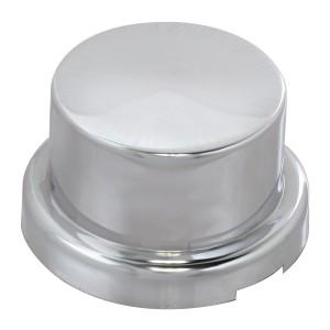 Flat Chrome Plastic Push-On Adjustable Lug Nut Cover
