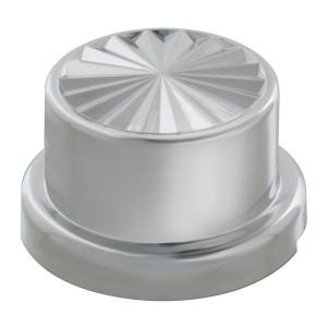 Pinwheel Chrome Plastic Push-On Adjustable Lug Nut Cover