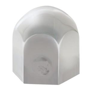 Standard Chrome Steel Push-On Lug Nut Cover w/o Flange