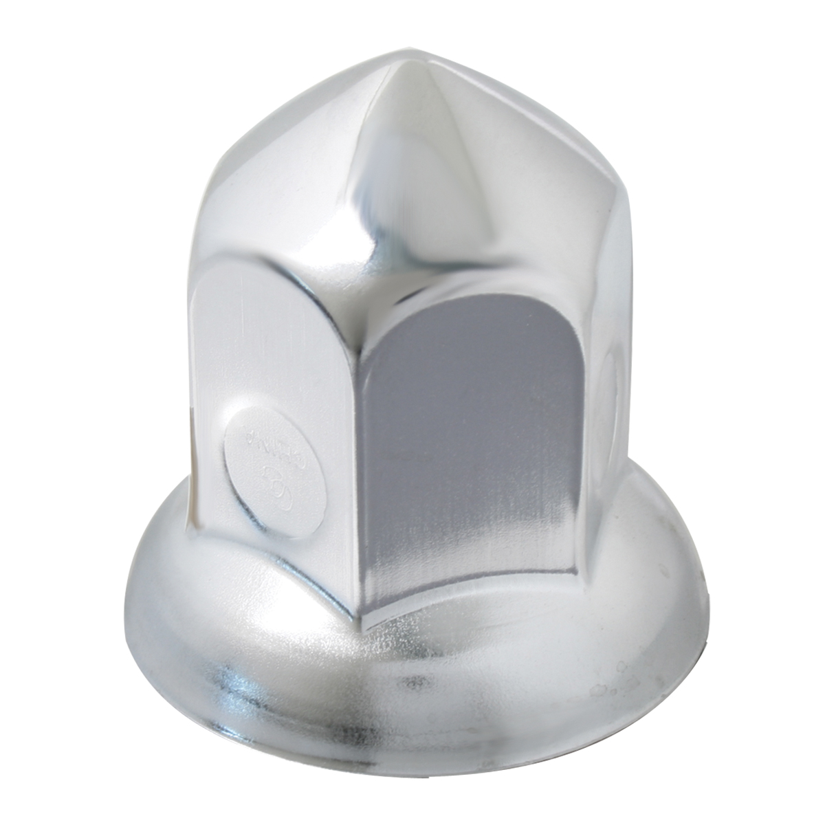10273 Chrome Steel Cone Style Push-On Lug Nut Cover w/ Flange