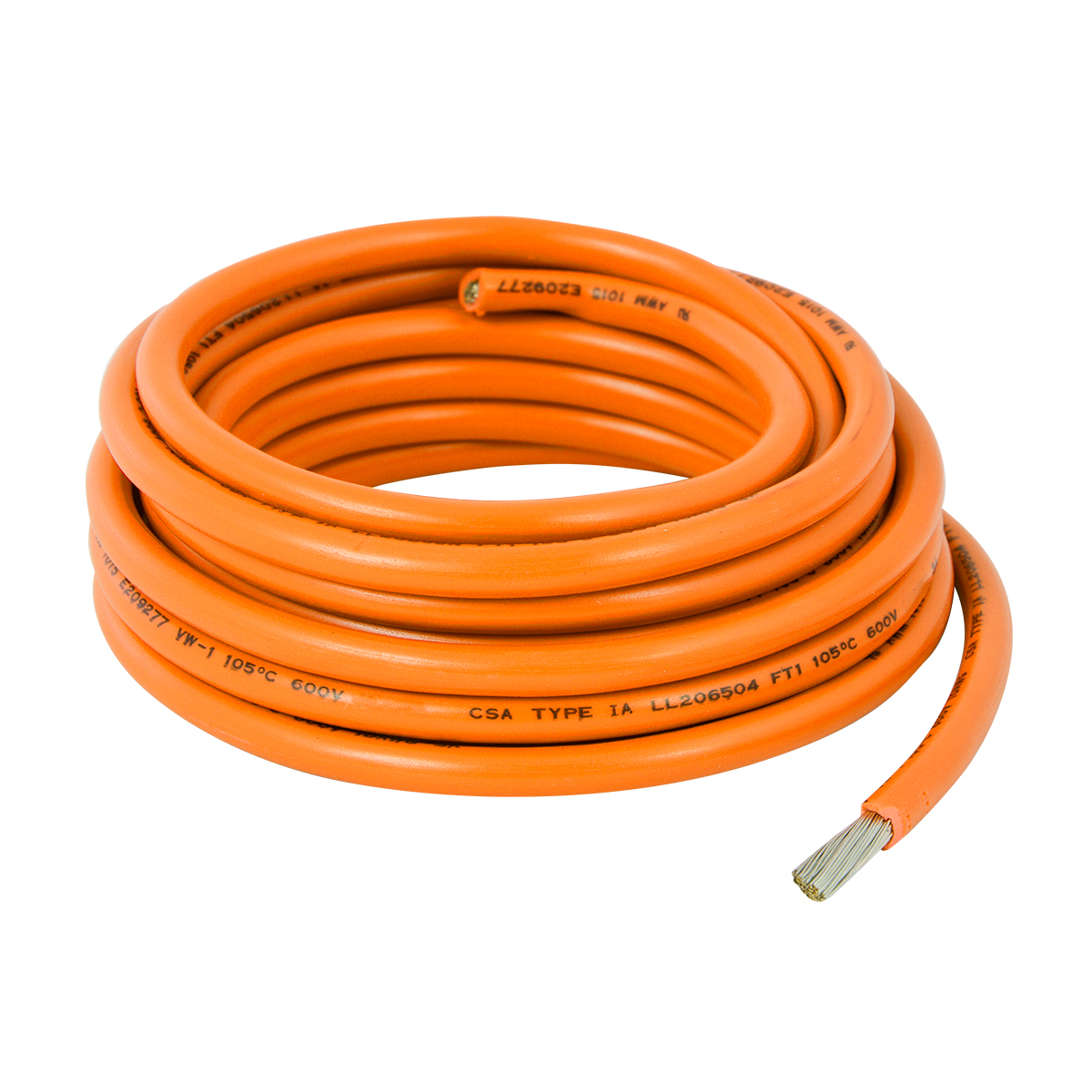 55042 Orange UL Listed Primary Wires in 12 Gauge
