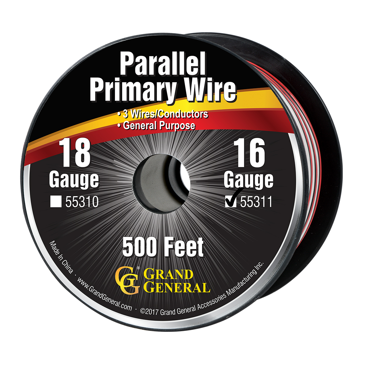 55311 16 GA Parallel Primary 3 Wire Roll