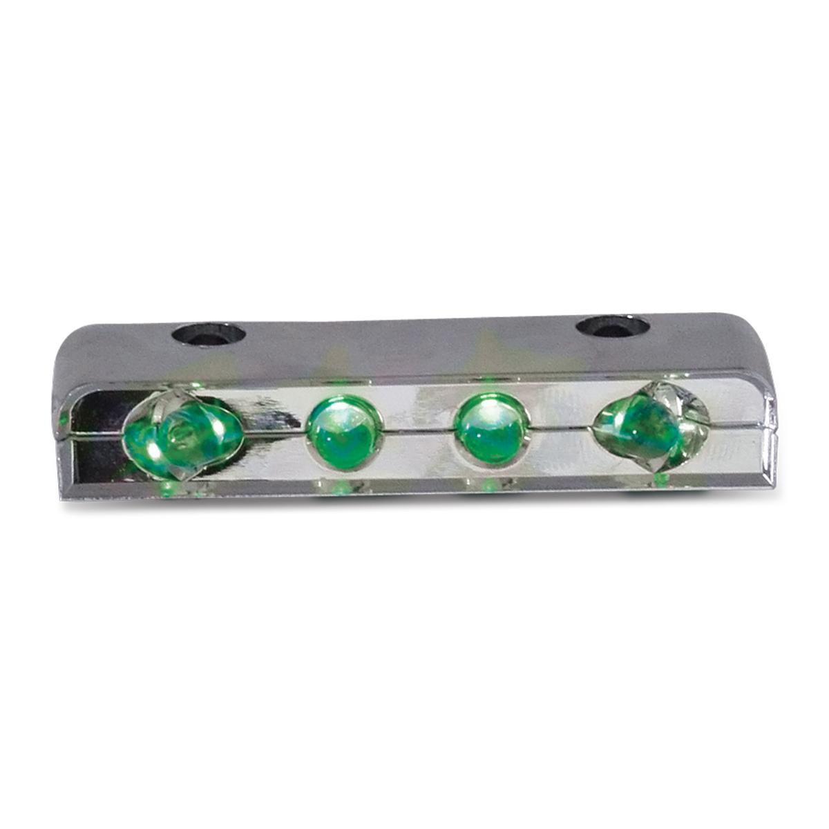 77102 Green 4 LED Step Light