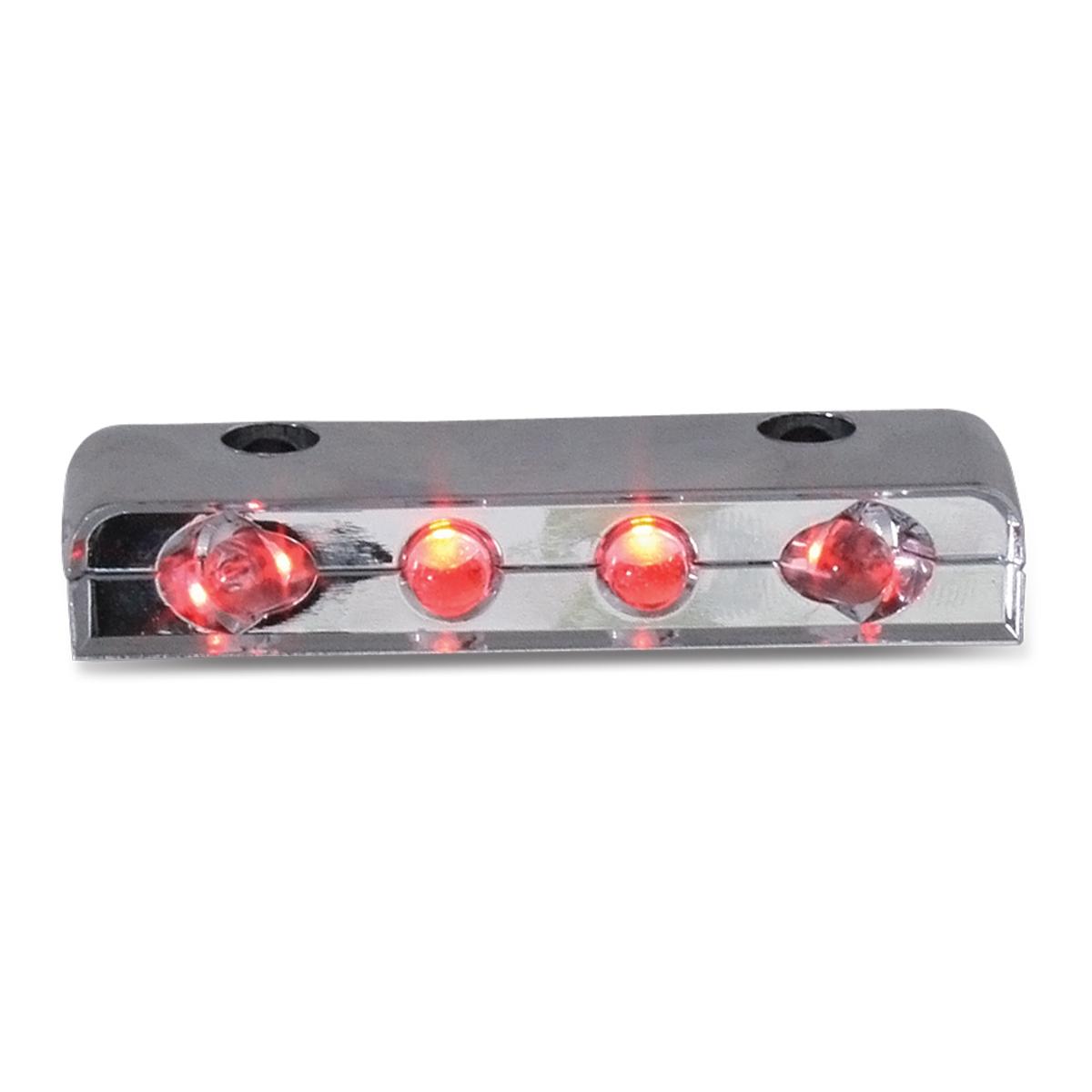 77104 Red 4 LED Step Light