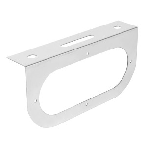 "Chrome Plated Steel Single Light ""L"" Shape Mounting Bracket with Oval Sealed Light"