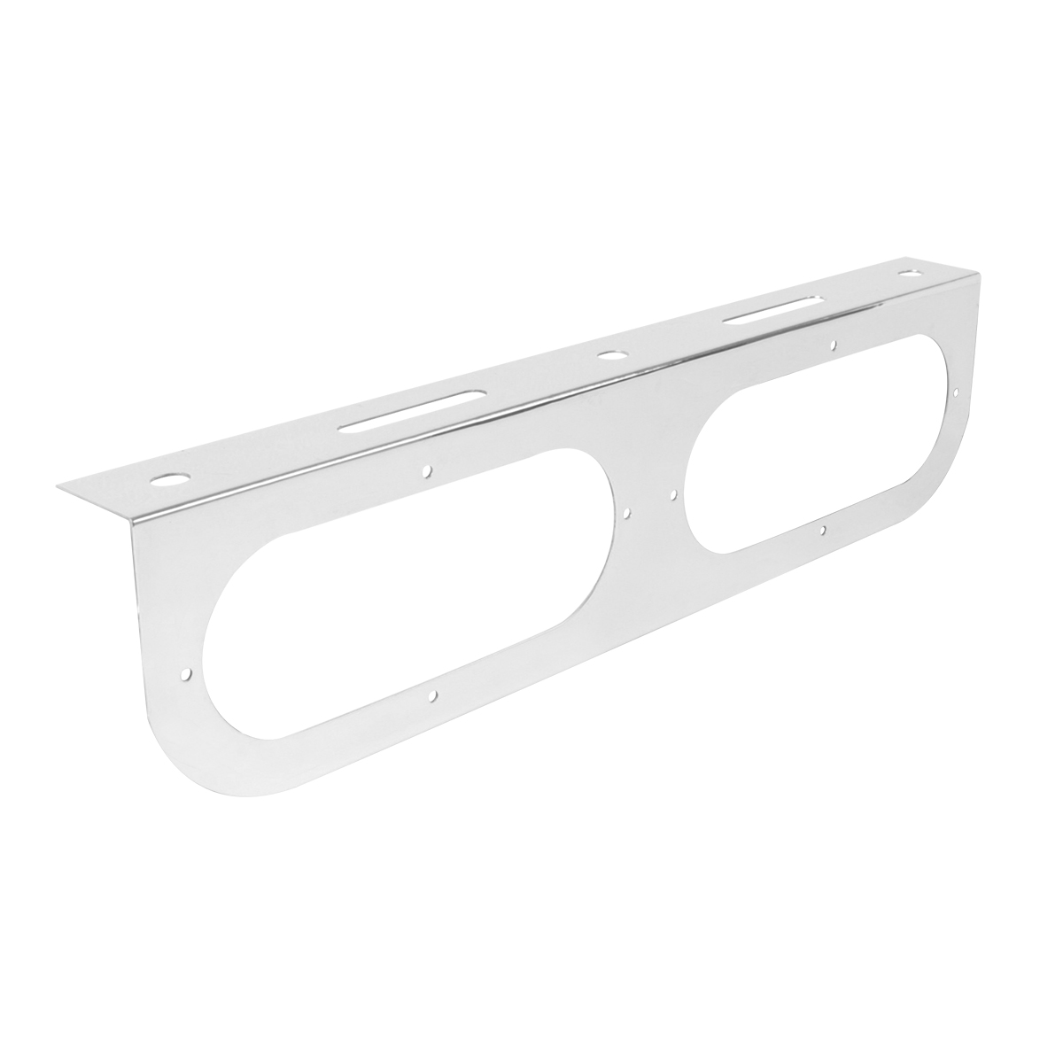 """Chrome Plated Steel Double Light """"L"""" Shape Mounting Bracket Only"""
