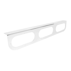 """Stainless Steel Triple Light """"L"""" Shape Mounting Bracket with Oval Sealed Lights"""