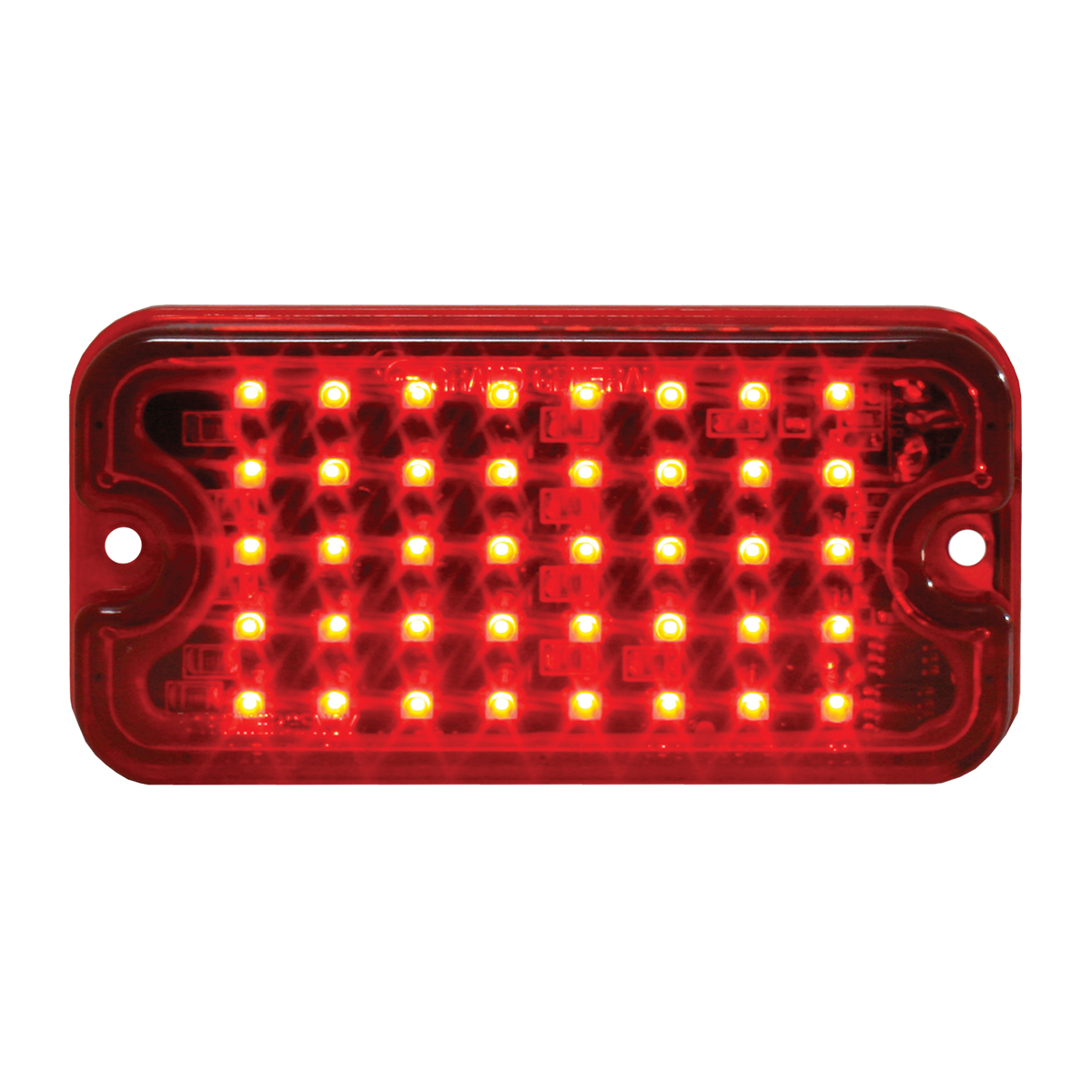 81747 Red/Red Ultra Thin Small Rectangular LED Strobe Light