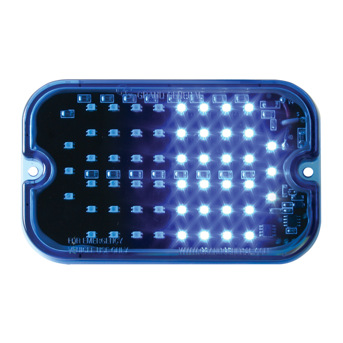 81760 Blue/Blue Ultra Thin Large Rectangular Strobe LED Light