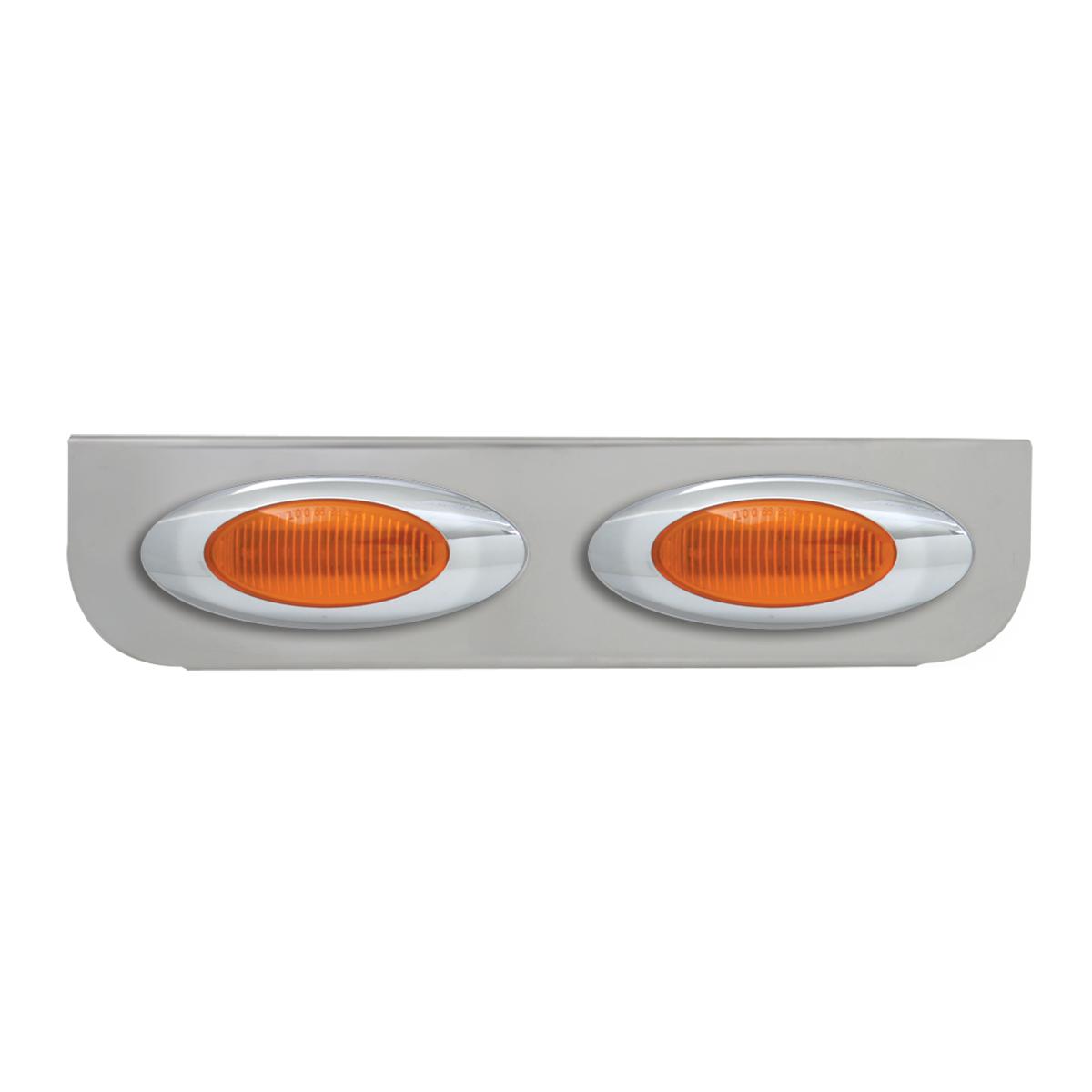 "#89030 Double Chrome ""L"" Shape Light Bracket with Plug-In Y2K Incandescent Light"