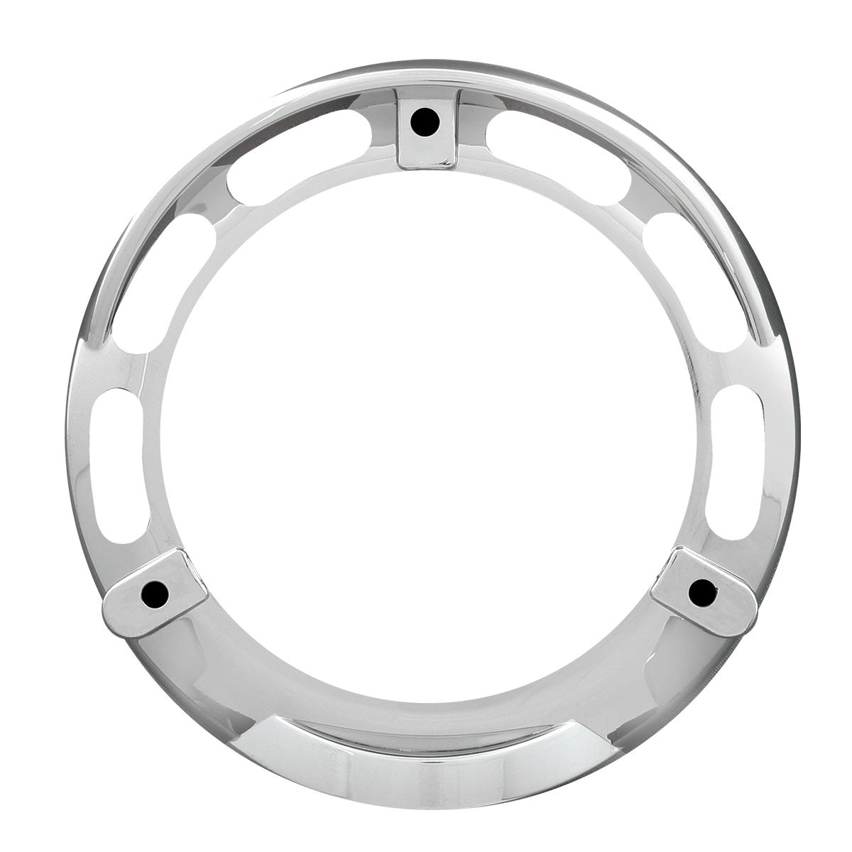 """68217 Chrome Plastic Bezel w/ Visor for 4"""" Round Combination Pedestal Lights"""