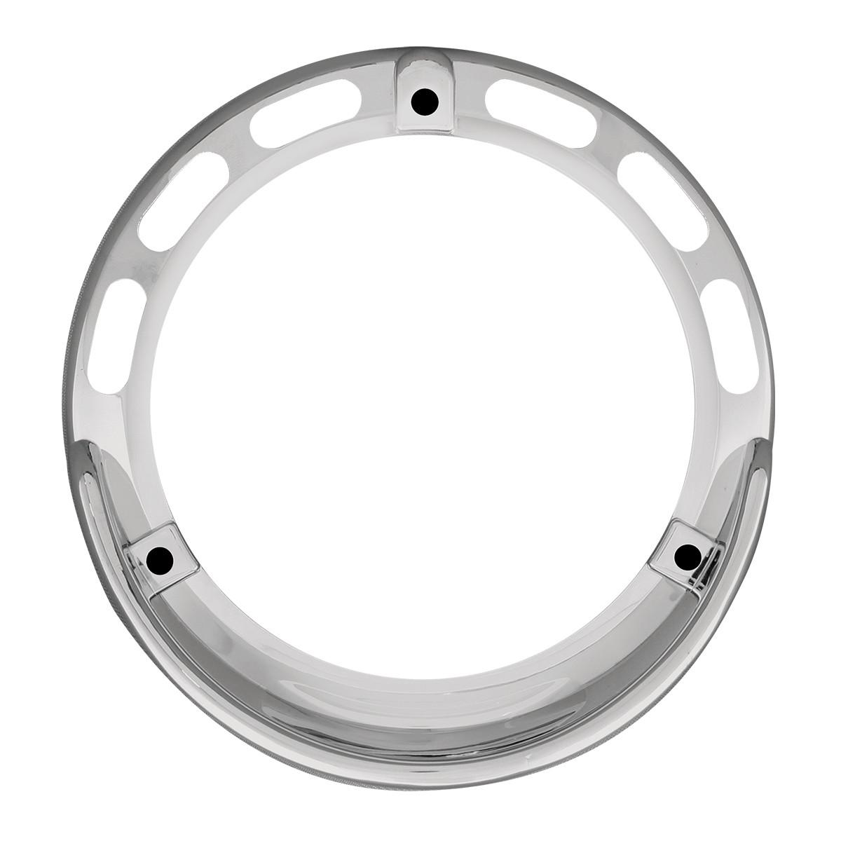 """68218 Chrome Plastic Bezel w/ Visor for 4"""" Round Combination Pedestal Lights"""