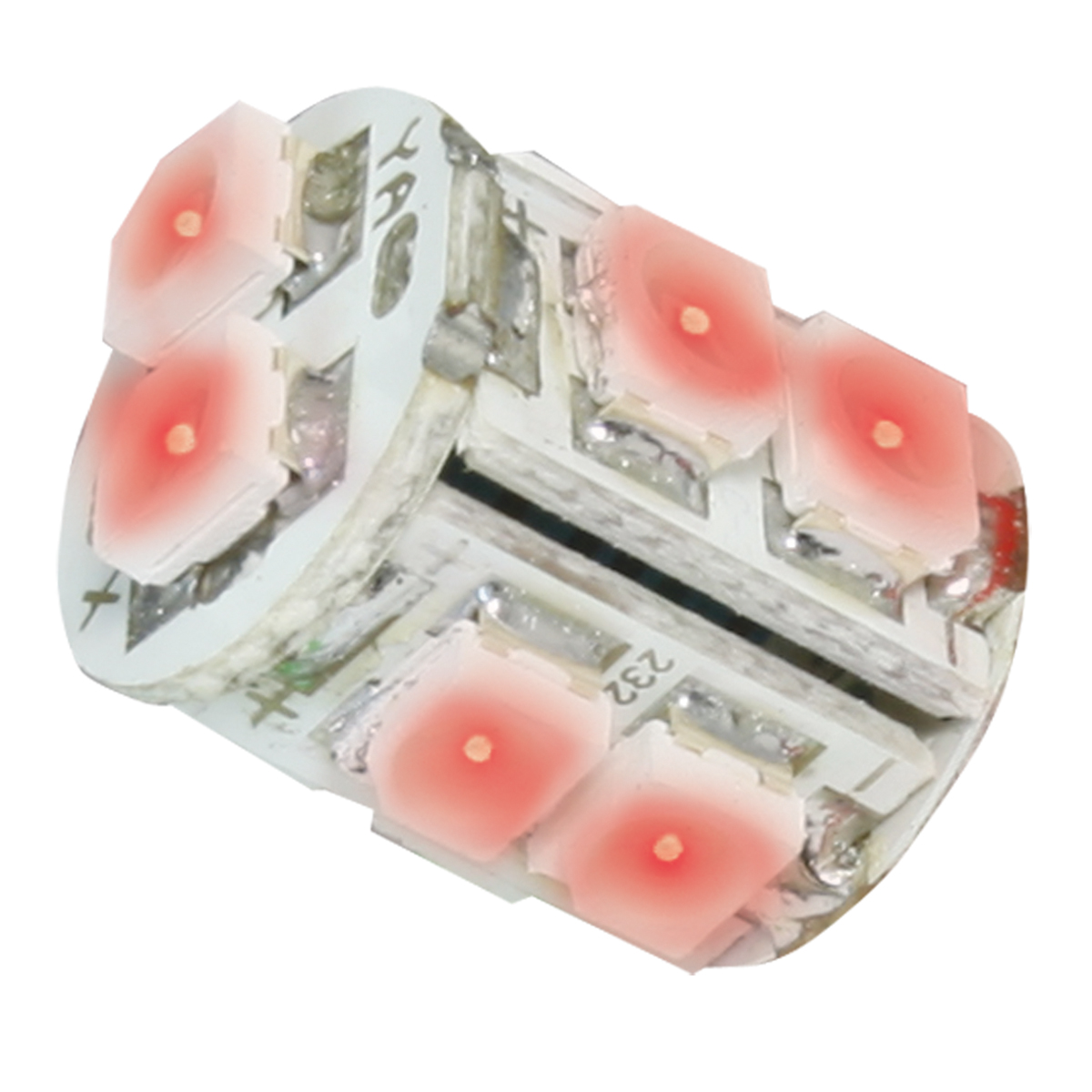 74923 Red 194/168 Tower Style 10 LED Light Bulb