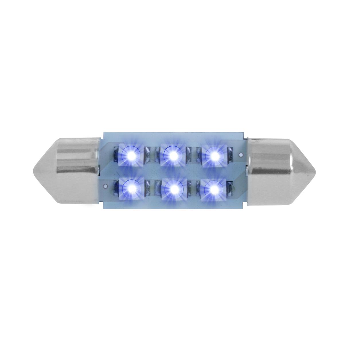 75001 Blue 211-2 Dome Type 6 LED Light Bulb